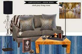 The Coffee Table by Copy Cat Chic Room Redo Sleek Gray Living Room Copycatchic