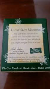 2005 hallmark lucky slot machine ornament miniature what s it worth