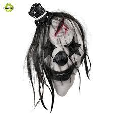 Scary Clown Halloween Costume Aliexpress Buy Pawaca Creepy Halloween Mask Scary Clown