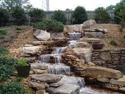 how to designing pondless water characteristic and small waterfall
