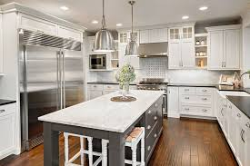 green kitchen cabinets with white island gorgeous contrasting kitchen island ideas pictures