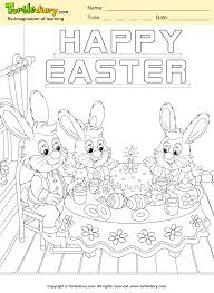 happy easter bunny coloring sheet turtle diary