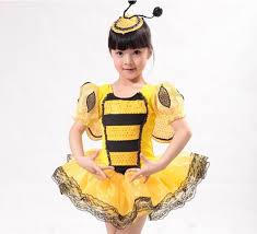 girls bumble bee costume wings skirt fancy dress party on