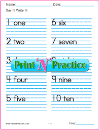 7 number writing worksheets numbers words pictures