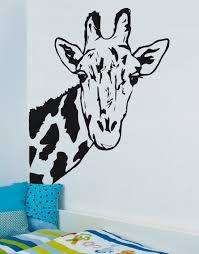 giraffe face vinyl wall decal sticker 6012