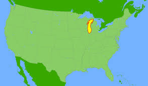 Map Of Michigan Lakes by Lake Michigan Global Great Lakes