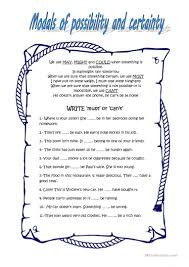 modals of possibility and certainty worksheet free esl printable