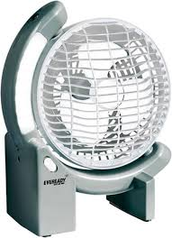 stand up ac fan eveready rechargeable fan with led light rf02 ac dc 3 blade