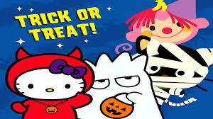 free hello kitty halloween wallpaper wallpapersafari