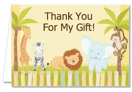 Jungle Birthday Card Birthday Party Thank You Cards Jungle Safari Party Thank You Notes