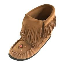 womens size 12 fringe boots s moosehide knee high 15 canadian unlined mukluk