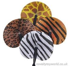 wholesale fans bulk buy safari theme fold out fans wholesale fans 25cm
