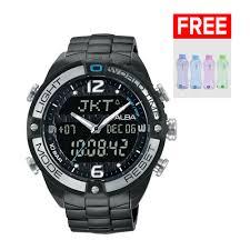 Jam Tangan Alba Digital alba analog jam tangan pria stainless steel black at2039x1