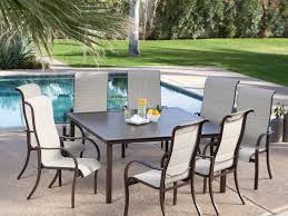 Sling Patio Dining Set - patio 43 patio dining table 8 person patio dining table