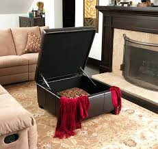 Espresso Storage Ottoman Living Room Storage Table Espresso Leather Storage Ottoman Modern
