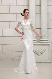 lace wedding gowns half sleeves keyhole back v neck designer lace wedding dress