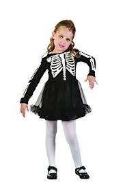 2 3 Halloween Costume Childrens Skeleton Girls Halloween Fancy Dress Costume Horror