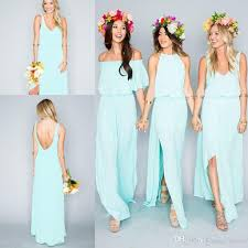 discount bridesmaids dresses summer bohemian mint green bridesmaid dresses 2017 mixed