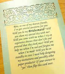 bridesmaid card wording will you be my bridesmaid this is your dress mochi studios