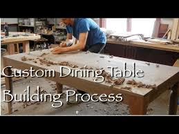contemporary dining table building process by doucette and wolfe
