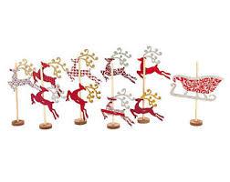 reindeer figurines etsy