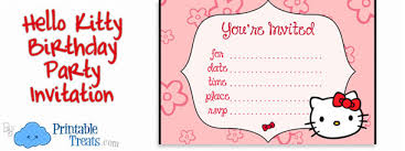 hello kitty birthday party invitations for kids u2014 printable treats com