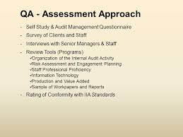 quality assurance u0026 improvement program audit process versus