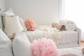 shabby chic bed linen bedroom shabby chic style with paper flowers