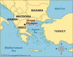 Greece Maps Mount Olympus Greece Map Map Of Mount Olympus Greece Southern
