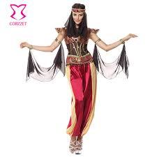 Greek Halloween Costume Corzzet Red Sequin Long Pants Burlesque Halloween Greek Goddess