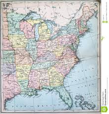 States Map Of Usa by Antique Map Of Eastern States Of Usa Royalty Free Stock