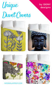 unique duvet covers u0026 cool bedding by deny designs