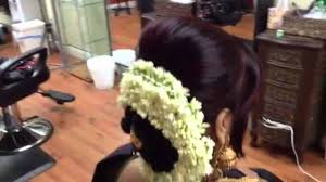 how to put bridal hairstyle traditional low bun youtube