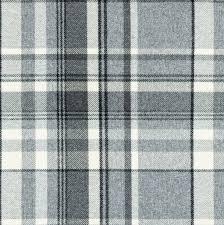 Tartan Drapes Mcalister Textiles Heritage Wool Feel Charcoal Grey Tartan