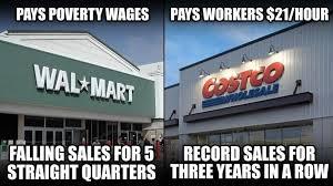 Costco Meme - working in walmart vs working in costco