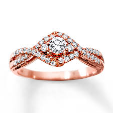 kay jewelers charms kay diamond engagement ring 1 2 ct tw round cut 10k rose gold