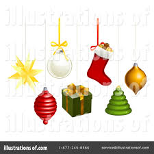 christmas ornaments clipart 1083727 illustration by