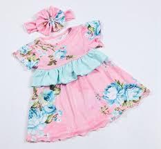 2016 flower dress baby cotton summer dresses
