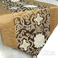 extra wide table runners wide table runners incredible brown satin for weddings decorate free