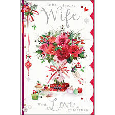 large luxury christmas card jj8510 special wife bouquet of