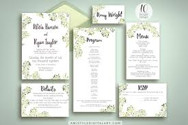 watercolor olive wedding invitation suite printable amistyle