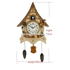 modern standing cuckoo wall clock with bird come out and flip flap