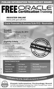 Technical Consultant Cv Punjab Information Technology Board Free Oracle Certification
