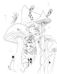 trippy mushroom free coloring pages art coloring pages
