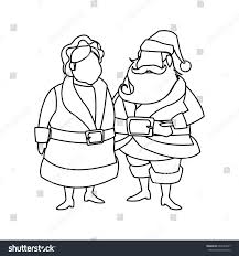couple mr mrs santa claus characters stock vector 644263927