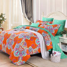 bedroom blue canyon paisley bedding with rug and nightstand for orange turquoise bohemian paisley bedding with rug and