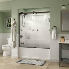 dreamline shower doors showers the home depot crestfield 60 in x 58 3 4 in semi frameless contemporary