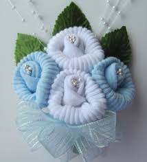 corsage de baby shower sock corsage for baby shower 14751