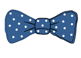 white and blue bows bow tie white clip at clker vector clip online