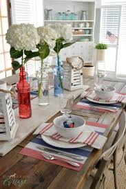 Home Table Decoration Ideas by Simple 4th Of July Table Decorating Ideas Fox Hollow Cottage